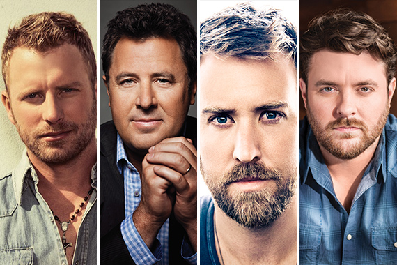 Pictured (L-R): Dierks Bentley, Vince Gill, Charles Kelley, Chris Young