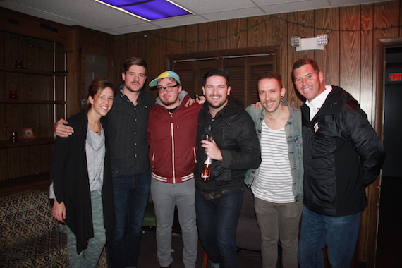 Pictured: BMI's Penny Gattis with members of Daniel Ellsworth The Great Lakes and BMI's Mark Mason