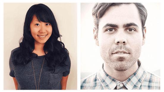 Pictured (L-R): Sarah Lai, Tyler Johnson.