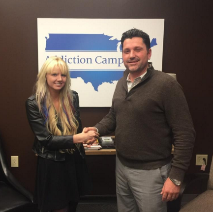 Pictured (L-R): Mary Fletcher and Eric Mitchell, CMO of Addiction Campuses