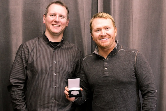Pictured (L-R): Troy Stephenson, Shane McAnally. Photo: Moments by Moser