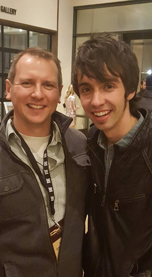Pictured (L-R): MusicRow Chart Director Troy Stephenson and Mo Pitney