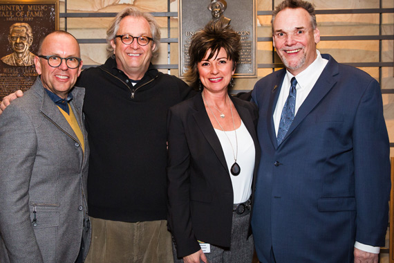 Pictured (L-R): CRS Board President Charlie Morgan, Country Music Hall of Fame and Museum CEO Kyle Young, Country Music Hall of Fame and Museum Senior Vice President of Marketing and Sales Sharon Brawner, and CRS Executive Director Bill Mayne. Photo: Kelli Dirks, CK Photo