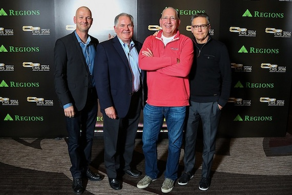 Pictured (L-R): Rod Phillips, iHeart Country; Bill Hendricks, Cox Media Group; John Esposito, Warner Music Nashville; Randy Goodman, Sony Music Nashville. Photo: CRB.