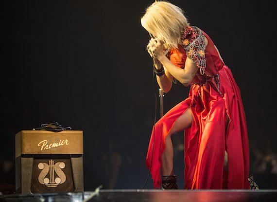 "Carrie Underwood on harmonica during ""Choctaw County Affair."" Photo: Schmidt PR"