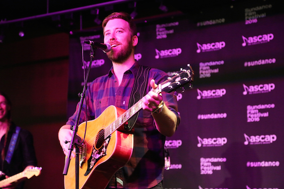 Charles Kelley performs at T​​he Sundance ASCAP Music Cafe. Photo: ASCAP's Erik Philbrook