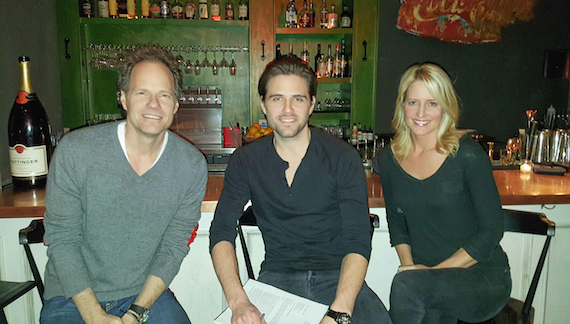 Pictured (L-R): Mark Friedman (Deluge Music), Brennin, Stephanie Greene.