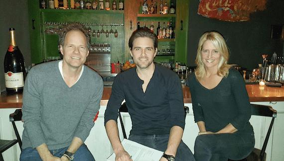 Pictured (L-R): Mark Friedman (Deluge Music), Brennin, Stephanie Greene.