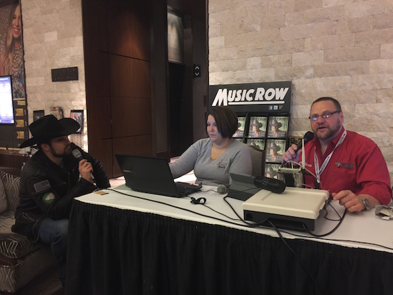 Pictured (L-R): Denny Strickland, Thunder 102's Michelle Semerano and Paul Ciliberto at CRS.