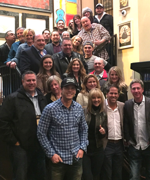 Granger Smith (front with hat) with Wheelhouse Records and CRS attendees.