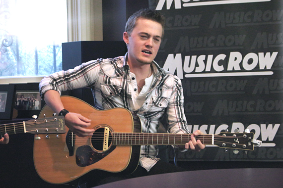 Jordan Rager performs for MusicRow staff.