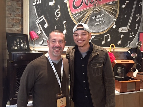 Pictured (L-R): Mark Jennings (Mark Jennings, WPOR Program Direcotor), Kane Brown