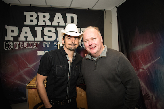 Pictured (L-R): Brad Paisley, Mike Moore. Photo: Ben Enos