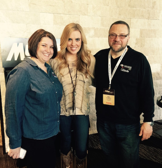 SaraBeth with Michelle and Paul at Thunder 102.