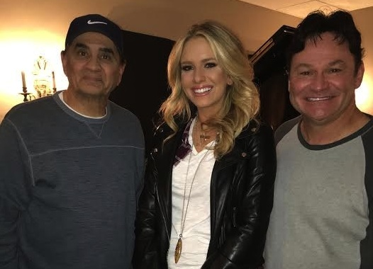 "OMG Entertainment's Sierra Black is finishing up the recording of her debut album, featuring the single, ""Heart on Ice."" Pictured (L-R): Producer Michael Omartian, Sierra Black, and producer Tom Hemby."