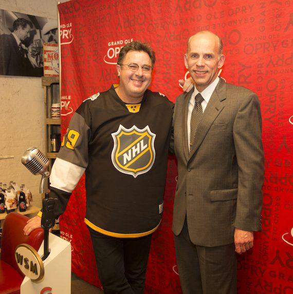 Vince Gill with Eddie Stubbs. Photo: Chris Hollo