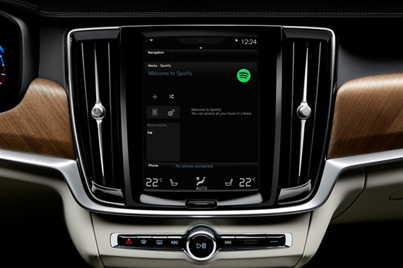 Volvo integrates Spotify. Photo: Volvo Car Group