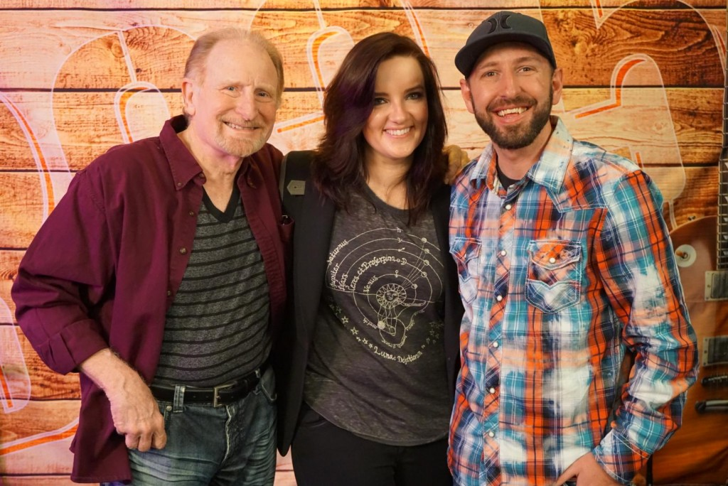 Pictured (L-R): Rick Young (WMN), Brandy Clark, KBEB PD JJ Ryan.