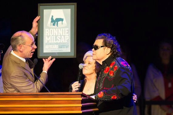 Pictured (L-R): Eddie Stubbs, Connie Smith, and Ronnie Milsap. Photo: Chris Hollo