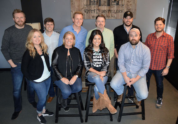 Back Row: BJ Hill (W/C), Will Overton (W/C), Pete Olson (Master Craft Management), Ben Vaughn (W/C), Travis Carter (W/C), Matt Michiels (W/C) Front: Alicia Pruitt (W/C), Liz Rose (Liz Rose Music), Alyssa, Scott Ponce (Liz Rose Music)
