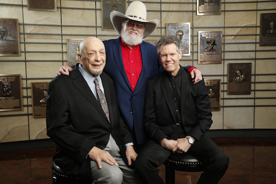 2016 Country Music Hall of Fame inductees Fred Foster, Charlie Daniels and Randy Travis. Photo: John Russell/CMA