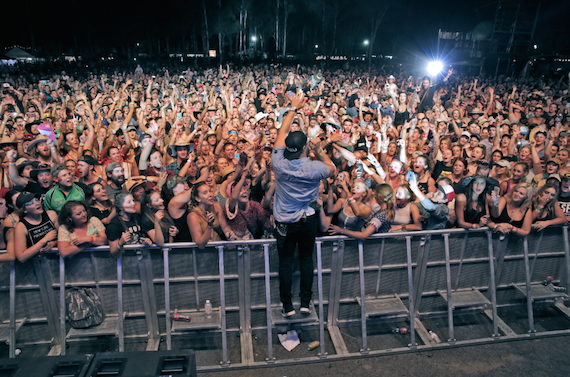 Chase Rice performs at CMC Rocks Music Festival in Australia.
