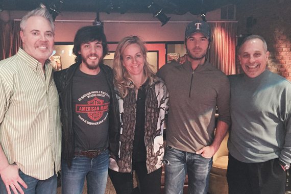 Pictured (L-R): America's Morning Show's Blair Garner, Warner Nashville's Chris Janson, Kelly Ford, Chuck Wicks and NASH Director of Programming John Shomby.