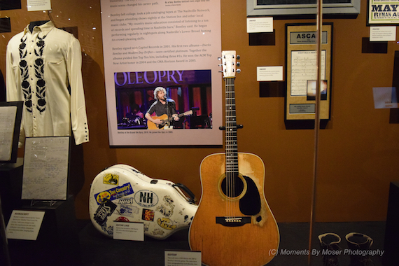 Dierks Bentley CMHOF Exhibit. Photo: Moments By Moser Photography