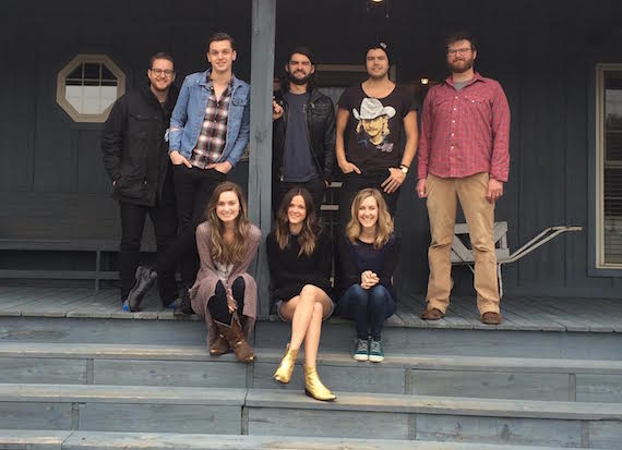 Pictured (L-R, top row): Jordan Reynolds, Patrick Droney, Davis Naish, Adam James, Drew Kennedy) BOTTOM ROW: Kat Higgins, Jillian Jacqueline, Melissa Fuller