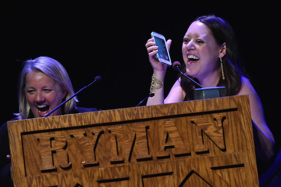 Song of the Year winner Liz Rose & Hillary Lindsey. Photo: Rick Diamond, Getty Images