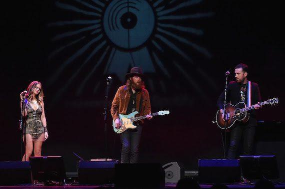"Maren Morris & Brothers Osborne performance of ""Fire Away."" Photo: Rick Diamond, Getty Images"