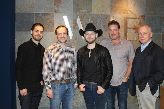 Pictured (L-R): Andy Friday, Manager, Bob Doyle & Associates; Nate Towne, WME; Brett Kissel; Rob Beckham, WME; Bob Doyle, Manager/Owner, Bob Doyle & Associates.