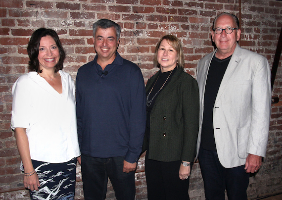 Pictured (L-R): CMA Board President Sally Williams; Eddy Cue, Senior Vice President of Internet Software and Services, Apple; CMA CEO Sarah Trahern, CEO, CMA; John Esposito, CMA Board Chairman.
