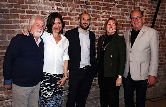 Pictured (L-R): CMA Board President-Elect Bill Simmons; CMA Board President Sally Williams; Stephen Witt, Author, How the Music Got Free; CMA CEO Sarah Trahern and CMA Board Chairman John Esposito.