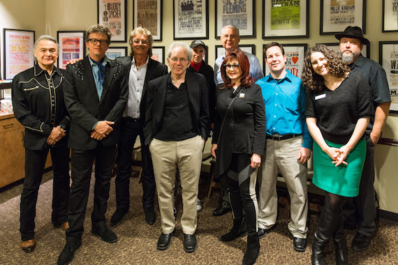 Pictured (L-R): Carco Clave, Chuck Mead, Stan Perkins, Peter Guralnick, David McGee, Dr. Mark Crawford, Naomi Judd, museum editor Michael Gray, museum manager of public programs Abi Tapia and Martin Lynds.