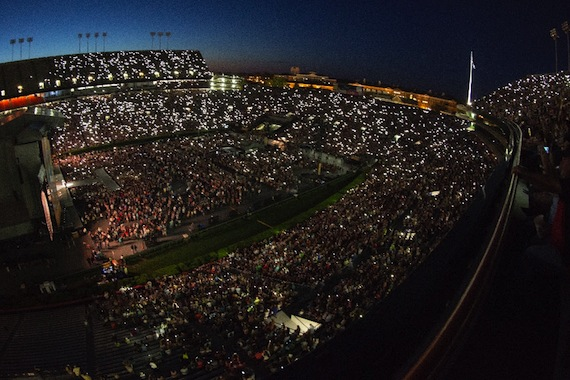 An aerial view of Chesney's concert in Auburn, Alabama. Photo: Allister Ann