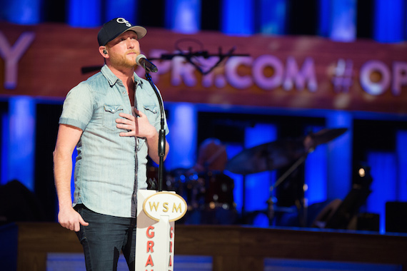 "Cole Swindell onstage after performing ""You Should Be Here"" on Saturday, March 26. ©2016 Grand Ole Opry / Photo: Chris Hollo"