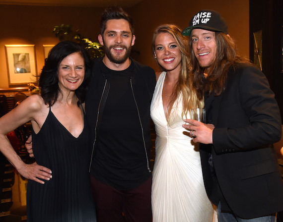 LAS VEGAS, NEVADA - APRIL 03: Musician Thomas Rhett and guests attend the celebration of The 51st Annual ACM Awards with Big Machine Label Group at MGM Grand Hotel & Casino on April 3, 2016 in Las Vegas, Nevada. (Photo by Rick Diamond/ACM2016/Getty Images for Big Machine Label Group)