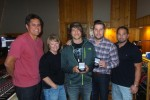 Michael Tyler, Jaron Boyer Accept MusicRow Challenge Coins