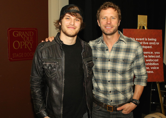 Michael Tyler with Dierks Bentley. Photo: Jeremy Westby / Webster Public Relations