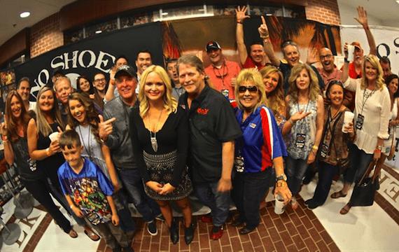 Miranda Lambert poses with Southeast radio representatives prior to a concert in Auburn, Alabama.