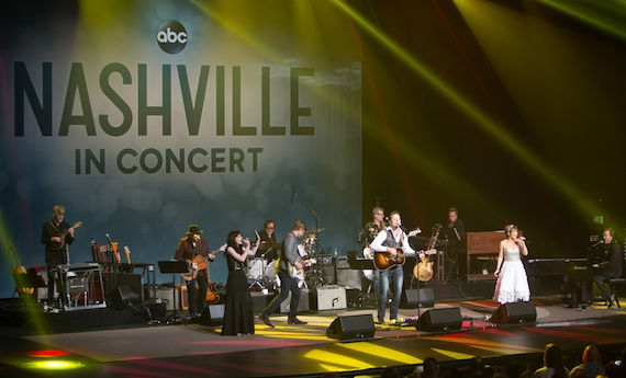 The cast of ABC's Nashville performs in concert. Photo: Chris Hollo
