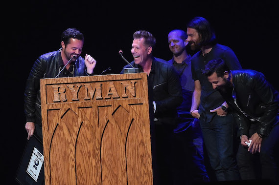 Artist-Writer winners Old Dominion. Photo: Rick Diamond, Getty Images