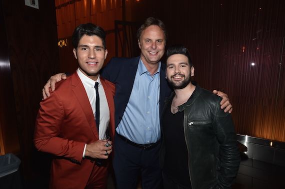 Pictured: Dan + Shay at WMN's post-ACM Awards dinner with Scott Hendricks (EVP A&R, WMN).
