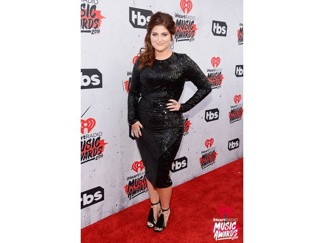 Meghan Trainor on the red carpet at the iHeartRadio Music Awards. Photo: iheart.com/Getty Images
