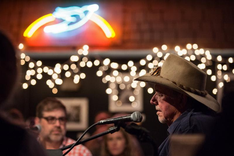 Country Music Hall of Famer Bobby Bare at the Bluebird Cafe CMA Songwriters Series early show.