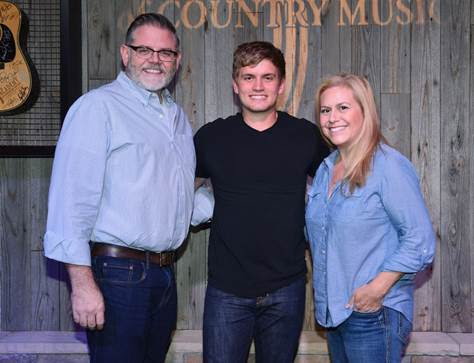 Pictured (L-R): Erick Long, ACM; Levi Hummon; Brooke Primero, ACM Photo: Michel Bourquard/Courtesy of the Academy of Country Music