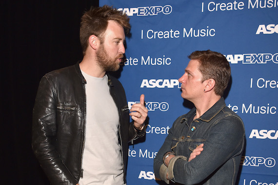 """Pictured: Singer-songwriters Charles Kelley (L) and Rob Thomas attend the 2016 ASCAP """"I Create Music"""" EXPO. Photo by Lester Cohen/Getty Images for ASCAP"""
