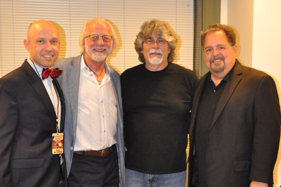 Pictured (L-R): Blake McDaniel (CAA), Alan D. Valentine (President and CEO, Nashville Symphony), Randy Owen, and Tony Conway (Conway Entertainment). Photo: HBPR