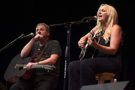 Bob DiPiero and Heather Morgan perform at the San Carlos Institute during Key West Songwriters Festival on May 6, 2016. (Erika Goldring Photo)